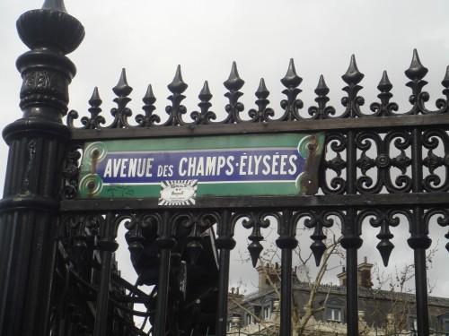 Placa da Champs Elysees em Paris