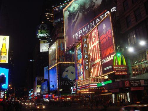 Propagandas na Times Square