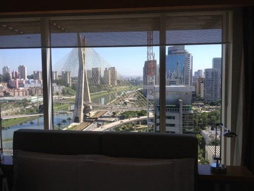 Vista da sala de estar do meu quarto no Grand Hyatt.