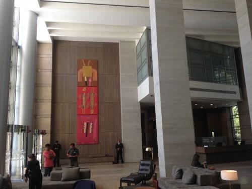 Decoração no interior do Grand Hyatt