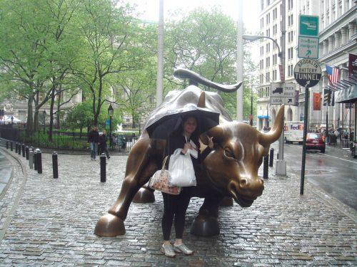 Touro de bronze em Nova York