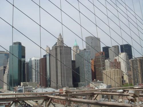 Prédios vistos da Ponte do Brooklyn