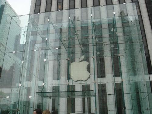Fachada da loja da Apple
