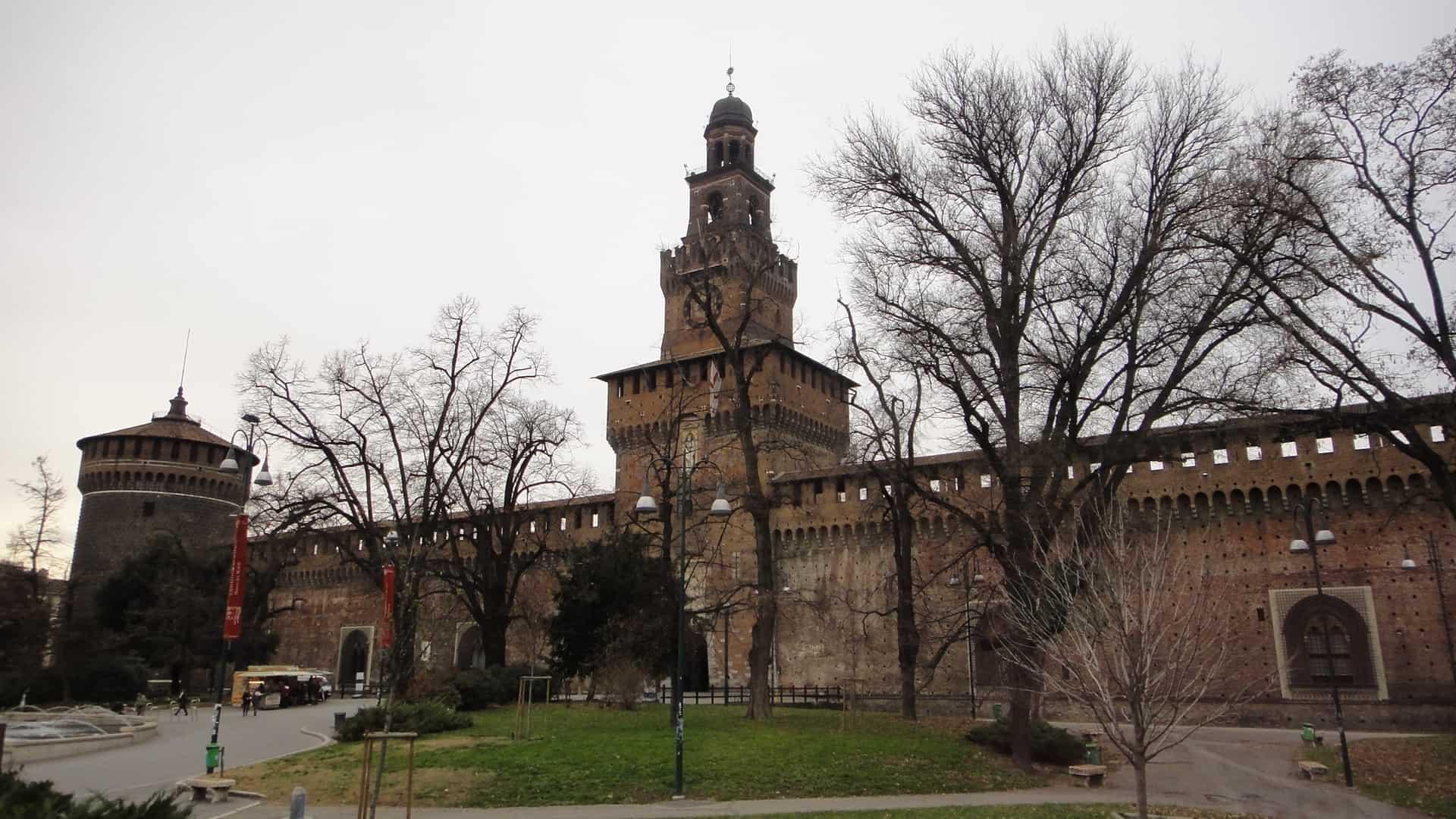 Castelo Sforcesco, em Milão