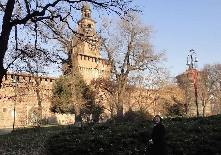 Paisagem de Milão no inverno