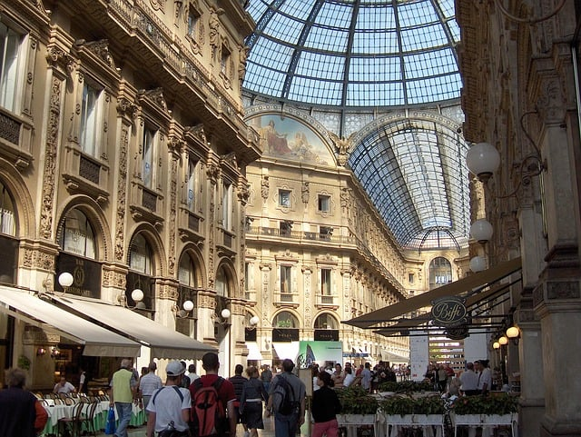 Interior da Galleria Vittorio Emanuelle II
