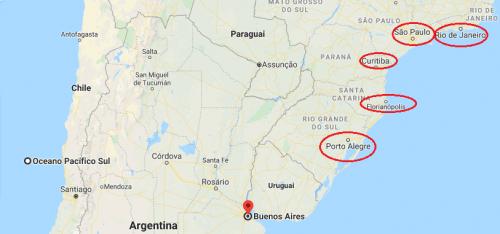 Buenos Aires no mapa