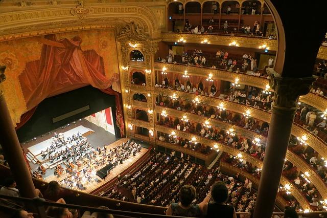 Interior do Teatro Cólon em Buenos Aires