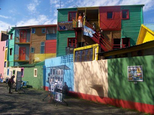 Casas coloridas do Caminito