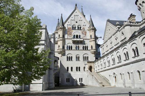 Arquitetura do Castelo Neuschwanstein, na Alemanha