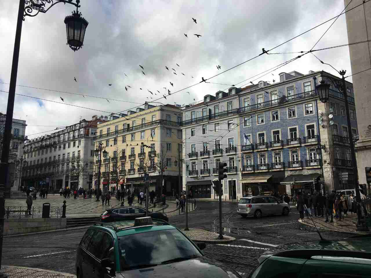 Lisboa no inverno: centro da cidade