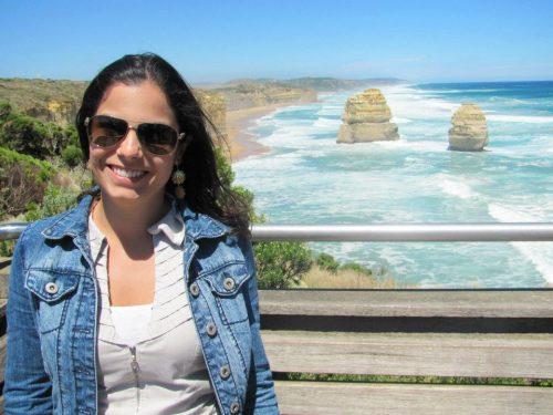 Brasileira em praia na Austrália