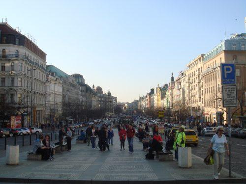 Lojas da Praça Venceslau, em Praga