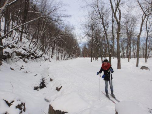 Esporte de inverno no Parque do Mont Royal