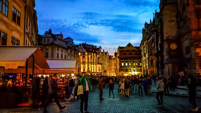 Centro de Praga de noite