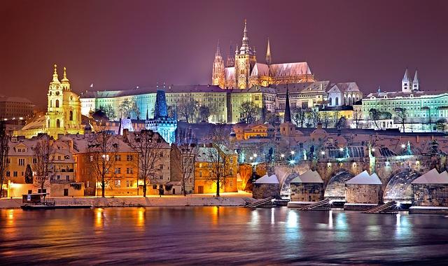 Luzes no Castelo de Praga