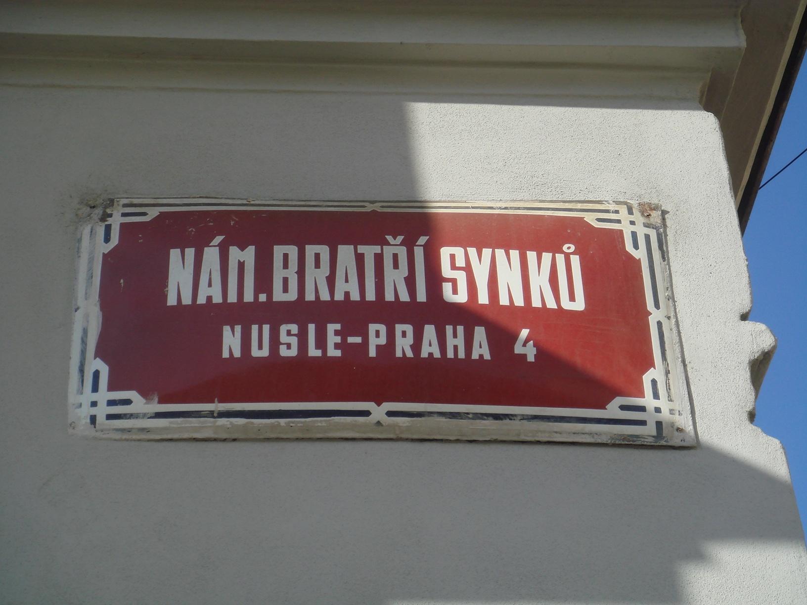 Placa de rua em Praga 4