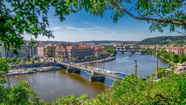 Vista panorâmica de Praga