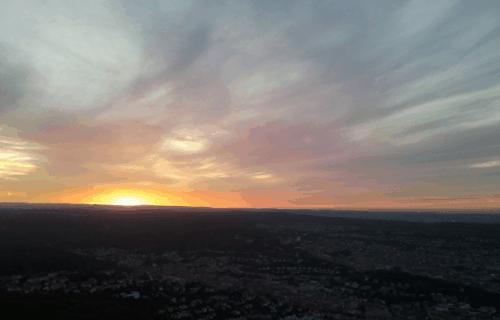 Vista da Torre da Televisão em Stuttgart