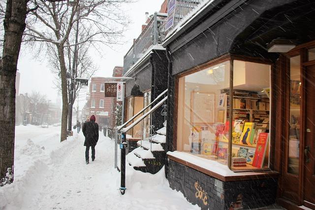 Rua de Montreal no inverno