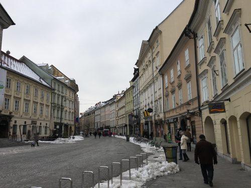 Rua comercial em Ljubljana