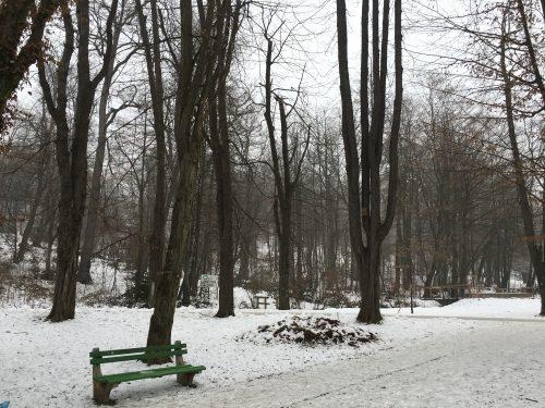 Parque Tivoli no inverno