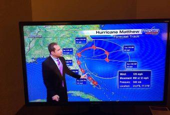 """""""Estava em Orlando durante a passagem do furacão Matthew"""""""