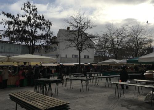 O que fazer em Liubliana: ir ao mercado na Eslovenia