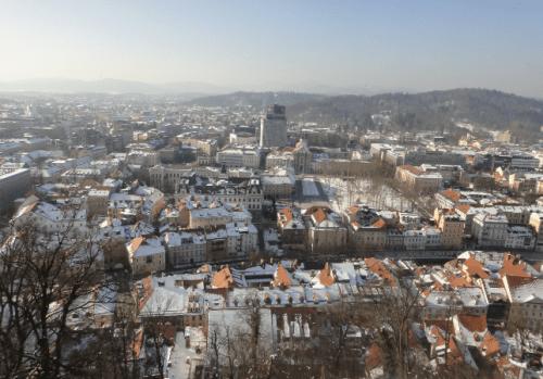 Vista panorâmica da cidade de Liubliana