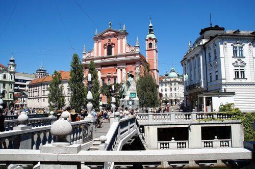 Ponto turístico em Liubliana