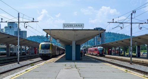 Estação de trem em Liubliana