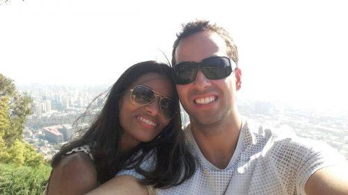 Selfie de casal no Chile