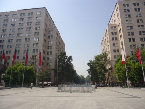 Bandeiras do país em Santiago