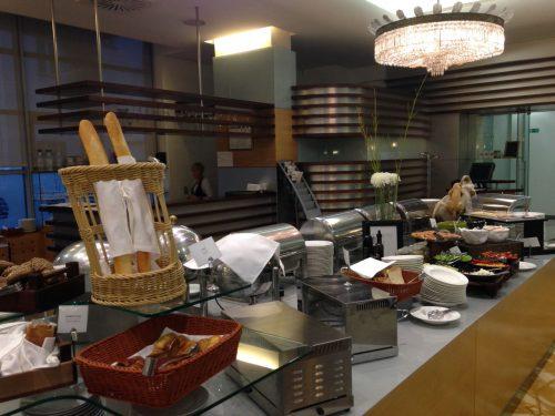 Café da manhã do hotel Slon