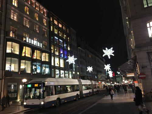 Movimento da Rue du Rhône em Genebra