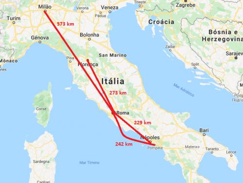 Distância de Roma