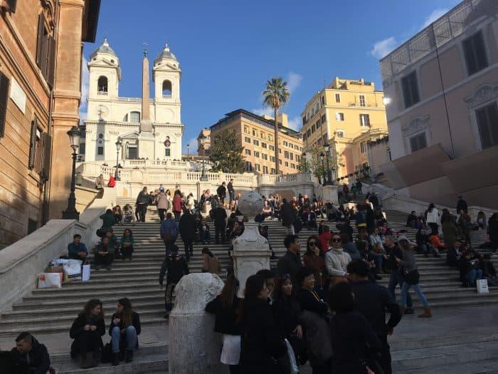 Pessoas na Escadarias di Spagna