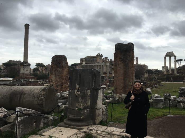 Turista no Fórum Romano