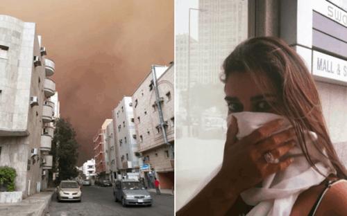 Tempestade de areia no Líbano