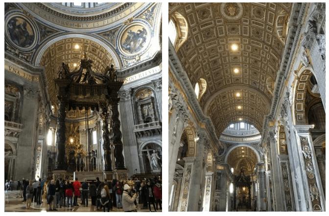 Detalhes da arquitetura da igreja de São Pedro