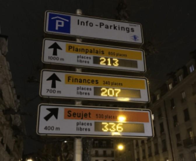 Onde estacionar o carro em Genebra