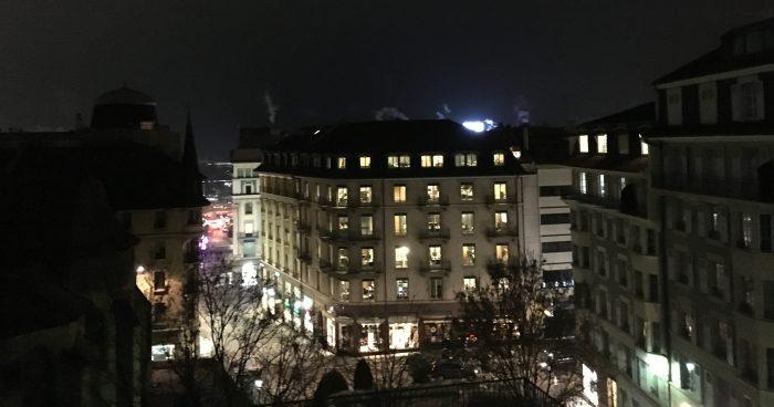 Vista da zona residencial de Genebra