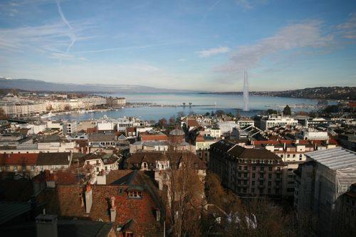 Vista panorâmica de Genebra