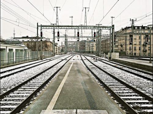 Estação de Genebra no inverno