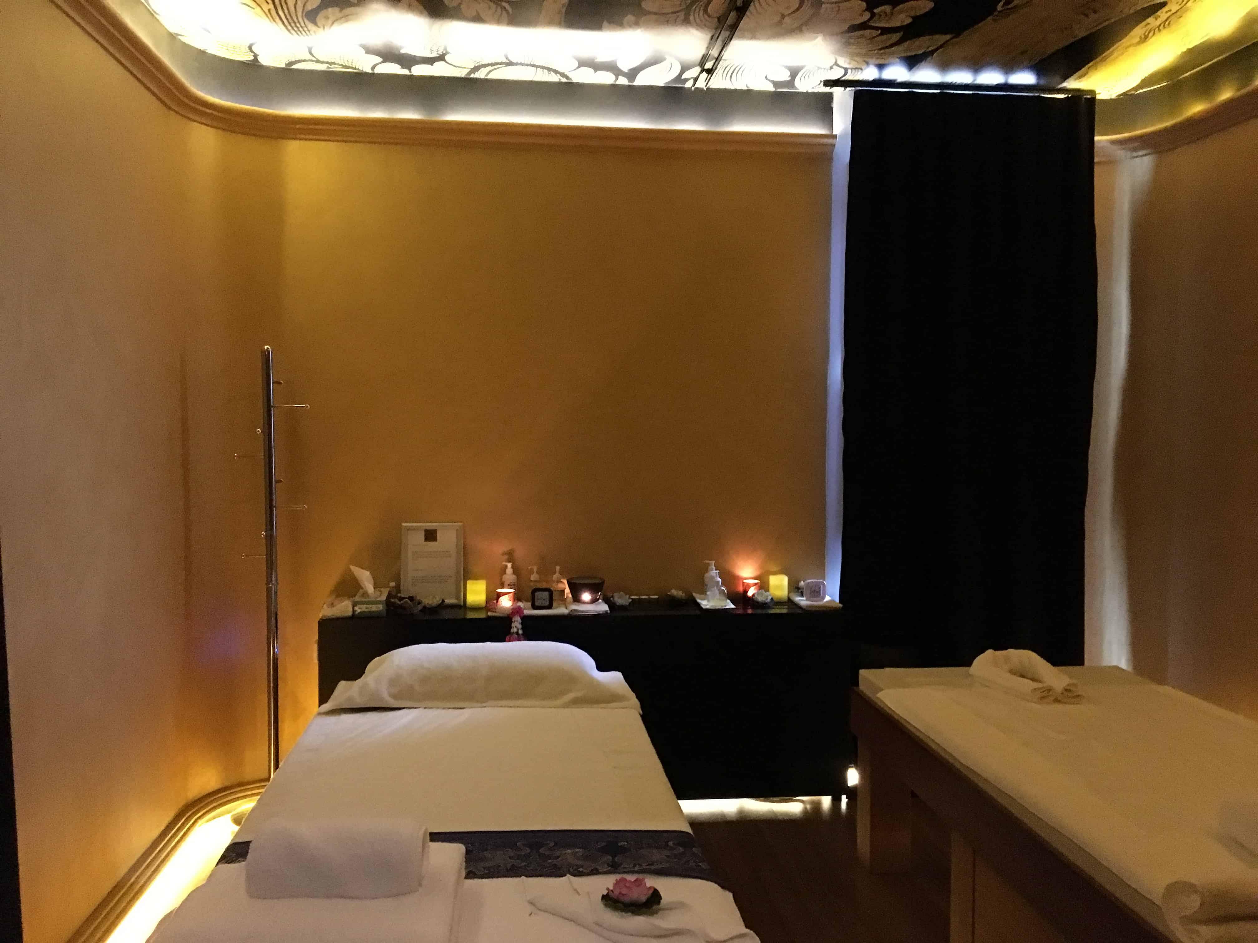 Espaço para massagens no hotel Slon em Ljubliana