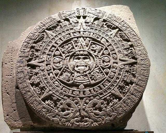 Calendário Asteca no museu da Cidade do México