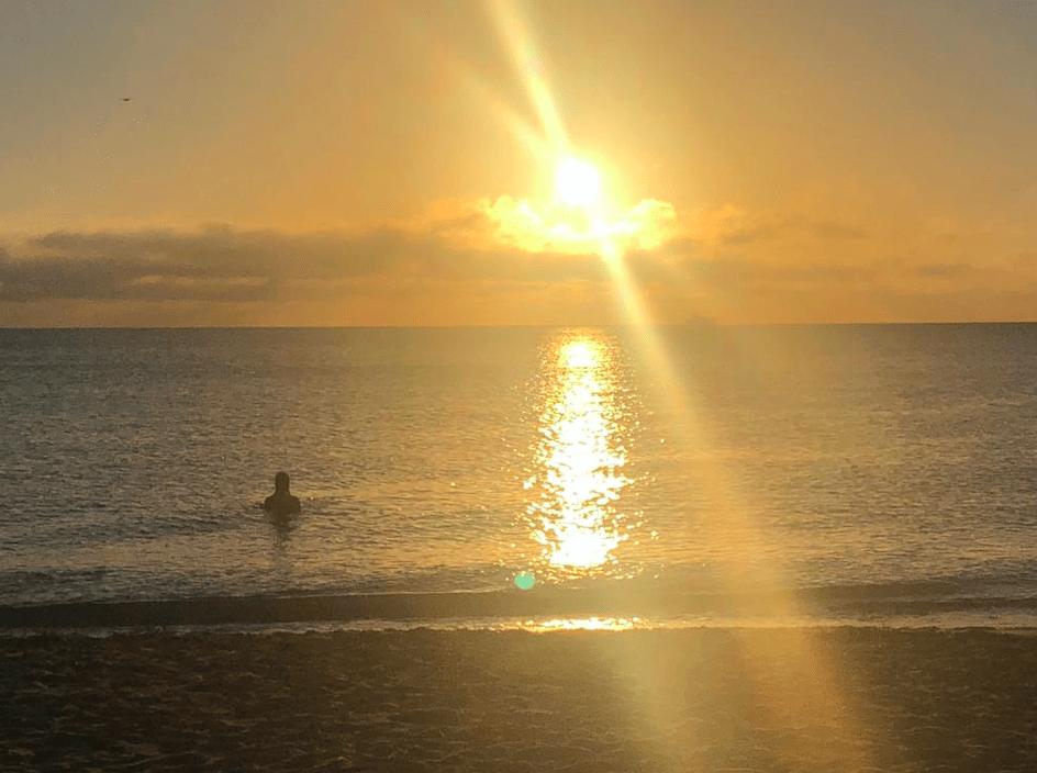 Banho de mar em South Beach