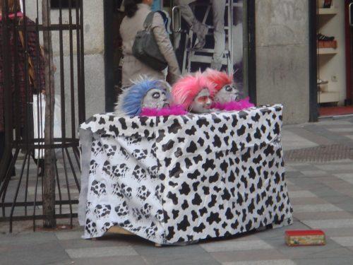 Artista de rua na Gran Vía em Madrid