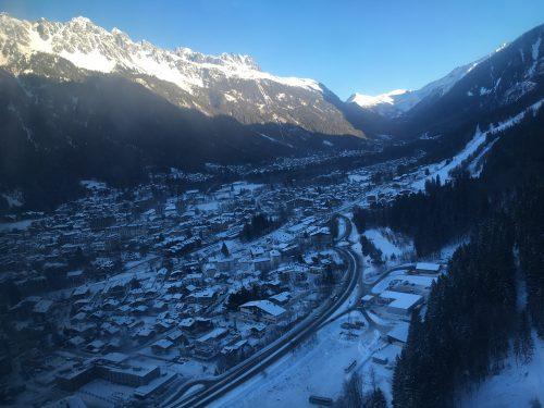 Vista de Chamonix, na França