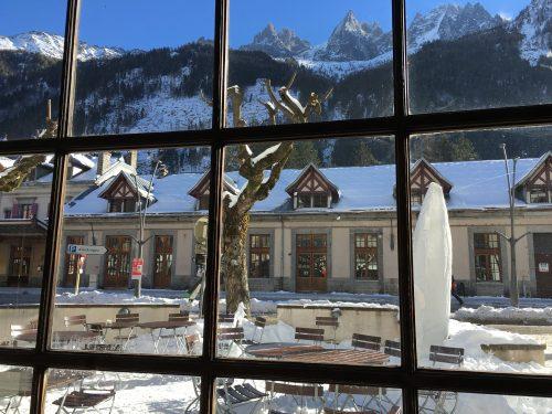Vista em Chamonix, na França